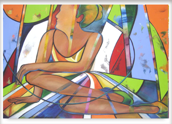 Bailarina sentada - ast - 140 x 90 - 2006
