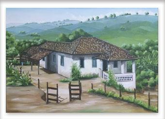 Fazenda na região de Lagoa dos Patos Formiga MG - ost - 50x70 - 1998