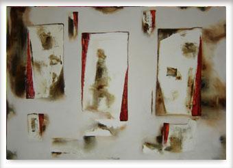 Sépia e vermelho - ast - 80 x 120 - 2005