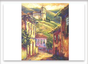 Uma luz em Ouro Preto – ost – 60×50 – 2004
