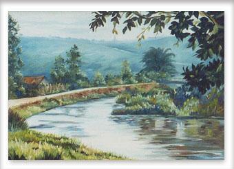 Vista do Rio Formiga - ost - 40x60 - 1990