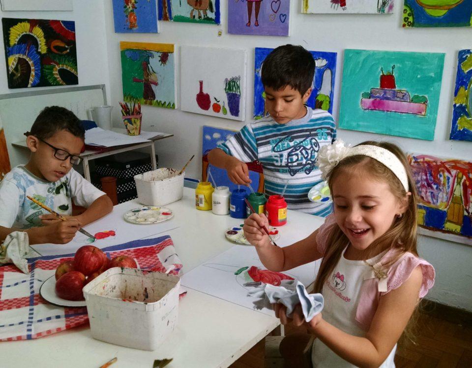 arte para crianças - pintura observação